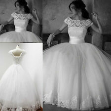 2015 New White/ Ivory  Wedding Dresses Lace/tulle Bridal Gowns Size6 8 10 12 ++