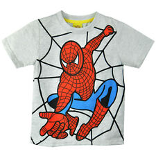 Kids Baby Boys Toddlers T-shirts Spider Man Cartoon 100%Cotton Tops Age 2-8 Year