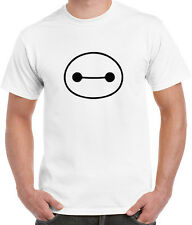 DISNEY MOVIE BIG HERO 6 BAYMAX HEAD EYES WHITE TEES T-SHIRT TSHIRT MEN LADIES