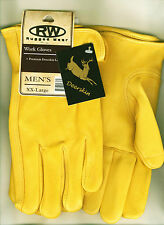 Men's Fine Deerskin Winter Work/Drive Glove Thinsulate/Polyester Lined 5 Sizes