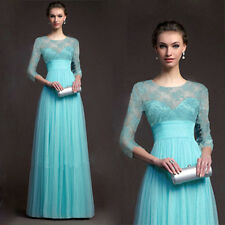 Sexy Women Long Sleeve Prom Ball Party Evening Cocktail Dress Bridesmaid Dress