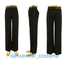 Mens Boys Ballroom Smooth Latin Rhythm Competition Practise Dance Pants Trousers