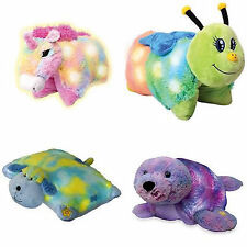 "2014 PILLOW GLOW PETS OPENS TO 16"" PILLOW, LIGHT UP, UNICORN PUP SEAL BUG TURTLE"