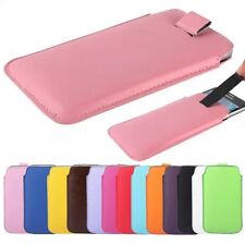 PU Leather PULL Cord TAB Pouch Wallet Bag Cover Case Fly IQ4411 Quad Energie 2