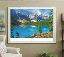 BLACKOUT PHOTO ROLLER BLINDS, PICTURE BLINDS MOUNTAINS LAKE