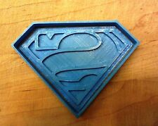 Superman Logo Cookie Cutter - Choice of Sizes (3D Printed Plastic)