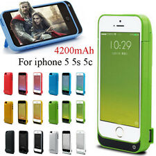 Fochutech 4200mAh power bank Charger pack backup battery case for iphone 5 5s 5c