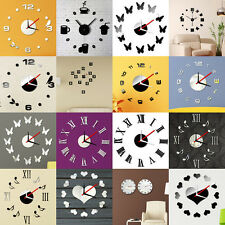DIY Adhesive Interior Wall Clock Creative Decoration Decor Watch Wall Sticker