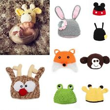 Warm Infant Baby Knitted Crochet Animal Cartoon Hat Cap Beanie Photography Props