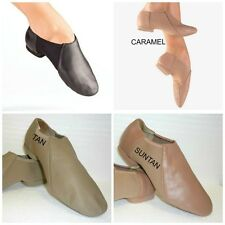 NEW! SO DANCA LEATHER SLIP ON JAZZ SHOE. 4 COLORS: BLACK, TAN, SUNTAN, CARAMEL!