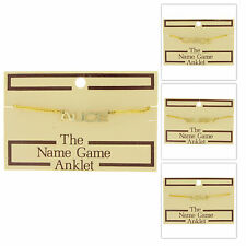 1970s Name Game Gold Tone Anklet - Choice of Name