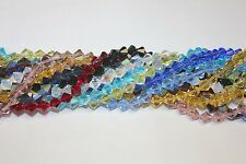 "Glass Beads - 10mm-Bicone-16 Faceted - 14-15"" Strand (About 40 Beads)"