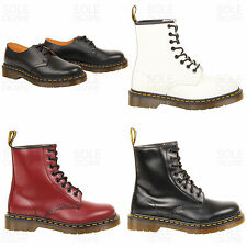 Womens ladies fashion leather Dr Martens 1461 3 eye shoes 1460 8 eye boots size