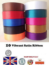 Basic Satin Ribbon 25mm 18m / Roll 1 inch Fast Vibrant Demanding Colours - UK