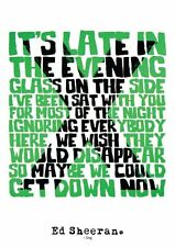 Ed Sheeran X Sing Lyrics Art Print/Poster