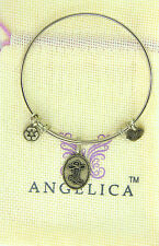 ANGELICA CHARM BRACELET BANGLE SILVER YELLOW COWBOY COWGIRL BOOT COUNTRY 1276