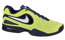 Nike Men's Air Max Courtballistec 4.3 Volt Brave Blue Tennis shoes 11 Rafa Nadal