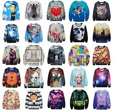 Women Men 3D Graphic Printed Hoody Sweatshirt Pullover Jumper Top