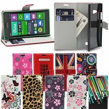 Designer Wallet Flip Floral PU Leather Case Cover for Nokia Lumia 730 / 735