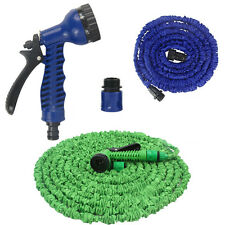 3X Expandable Flexible 20/50/75/100FT Magic Water Hose Pipe with Spray Nozzle