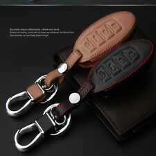 Leather Remote Key Fob Case Holder Cover Fit  Nissan SYLPHY Sunny TEANA 4-Button