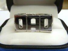 NEW Solid Sterling Silver.925 DAD Ring  7 grams   G7247