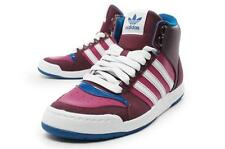 Adidas Miduru burgundy/blue womens court mid synthetic lace up trainers G61141