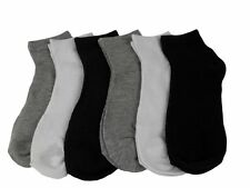 12 Pairs Socks Women's Sports Crew Ankle Cut Black Grey White Size 9-11 Or 10-13