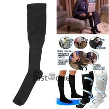 Black Anti-Fatigue Compression Socks for Varicose Comparable to Miracle Socks