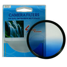 Gradual Blue Color Graduated ND Lens Filter 46/49/52/55/58/62/67/72/77/82mm mm
