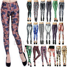 Womens Sexy Digital Graphic Design Printed Pattern Stretch Leggings Tight-Pants