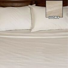 The Grand Ivory Solid 1200 Count Bed Sheets Choose Item & Sizes