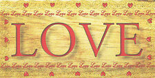 Beautiful wooden plaques handmade signs gifts LOVE HOPE FAITH life quotes