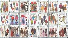 McCalls Sewing Pattern Childrens Outerwear Coats Capes McCall's Girls Boys UPICK