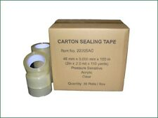 """Clear Carton Sealing Packing Tape 2"""" x 330' / 48 mm x 110 yards (1 or 36 rolls)"""