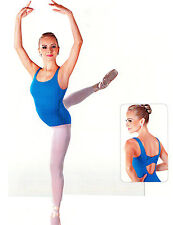 NEW! WOMENS BALLET LEOTARD W/ CROSSED FLAT STRAPS ON BACK. 4 COLORS! (D272)