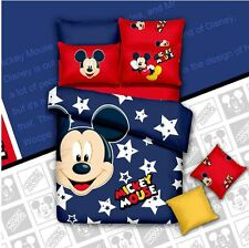 *** Star Mickey Mouse Queen Bed Quilt Cover Set - Flat or Fitted Sheet ***