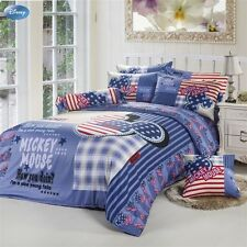 ** Mickey Mouse Retro Style Queen Bed Quilt Cover Set - Flat or Fitted Sheet **