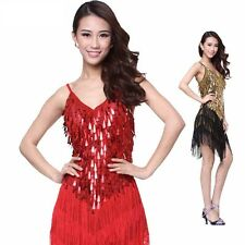 Costume Danse Concurrence robe de danse latine robe de frange Latin Dress Neuf