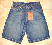 NWT TRUE RELIGION JEANS MENS BLUE DENIM SHORTS size 38