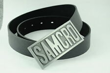 Western Embossed SAMCRO Sons of Anarchy Music Band Metal Leather Belt Buckle HOT