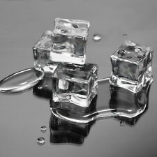 24 Counts/Pack Fake Artificial Acrylic Ice Cubes Crystal Clear 3x3CM Square