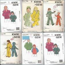 Children's Winter Outerwear Kwik Sew Sewing Pattern Boys Girls You Pick
