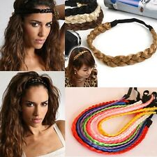 Lady Chic Hairpiece Headband Bun Braid Tail Plaited Elastic Hairband Extensions
