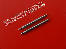 QUALITY SWISS MADE REPLACEMENT SPRING BARS TO FIT TISSOT PR100 P660.760  20mm