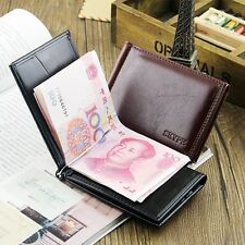 Men's Leather Bifold ID Card Holder Purse Billfold Handbag Money Clip Wallet