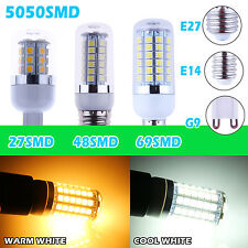 E27/E14/G9 27/48/69 SMD 5050 High Power White LED Light Bulb Lamp with cover NEW