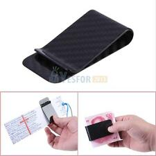 Carbon Fiber Men's Business Card Credit Card Cash Wallet Slim Money Clip Gifts