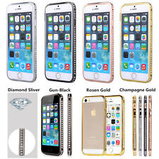 Luxury Crystal Rhinestone Diamond Bling Metal Case Cover Bumper For iPhone 4/5/6
