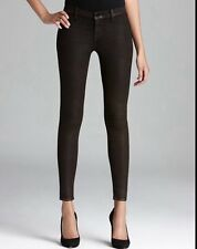 J Brand 815 Mid Rise Super Skinny Jeans In Coated Rootbeer Metallic 25 27 29